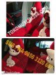 Sarung Jok Mobil Agya Karakter Hello Kitty Merah Hitam