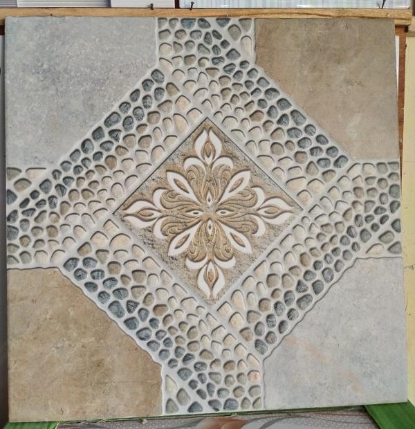 Keramik lantai kasar 40 x 40 Uno Rustic 48873 BG