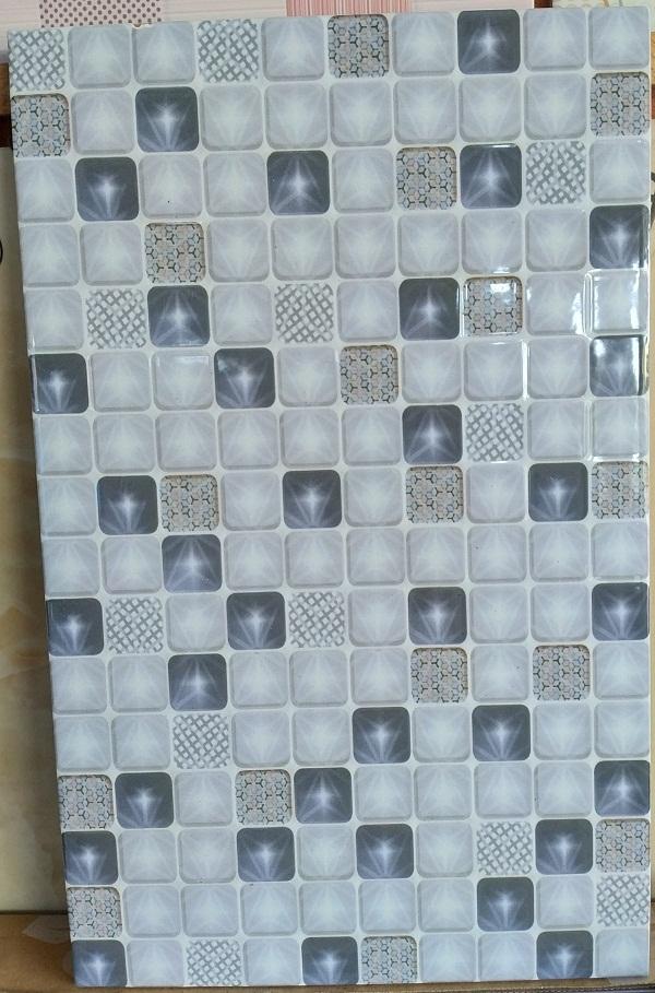Keramik Dinding 25 x 40 cm Uno Emerald GY Grey Abu abu Pare Kediri