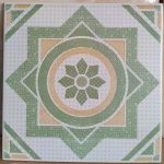 Keramik Lantai Kamar Mandi 20 x 20 Asia Tile Topaz Green Hijau Pare Kediri