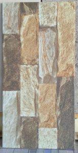 Keramik dinding 25 x 50 cm motif batu alam uno oxford brown pare kediri