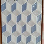 keramik dinding 3d dimensi 25 x 40 platinum beatrix blue biru pare kediri
