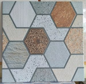 keramik lantai kasar 40 x 40 uno hexagon pare kediri