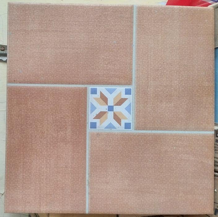 keramik lantai kamar mandi 25 x 25 Uno Nara BG Beige pare kediri