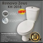 Distributor kloset closet wc duduk otomatis volk renovo surabaya Kediri jawa timur grosir supplier