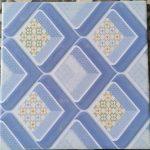 Keramik Lantai Kamar mandi 25 x 25 Uno Kansai Blue Biru Sekoto Pare Kediri