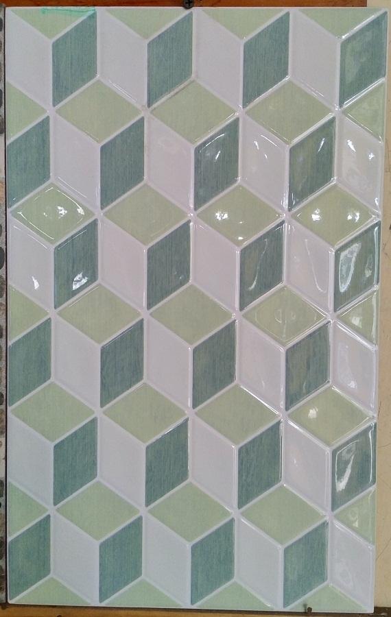 Keramik dinding 25 x 40 Platinum Beatrix Green Hijau Sekoto Pare Kediri