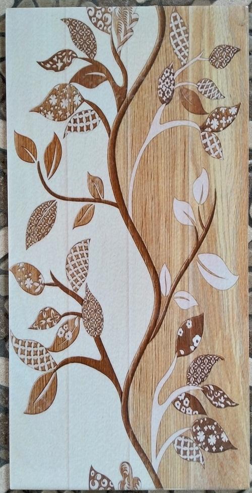 keramik dinding 25 x 50 uno ayana brown sekoto pare kediri