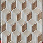 keramik dinding 3D 25 x 40 Platinum Beatrix Brown Sekoto Pare Kediri