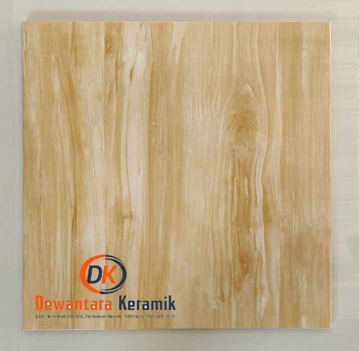 Keramik lantai motif kayu 50 x 50 Uno Lakewood Dewantara Pare Kediri